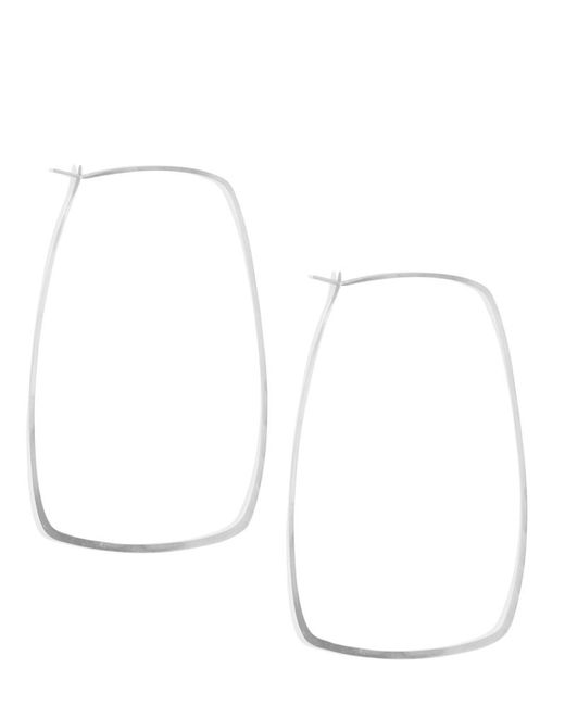 Melissa Joy Manning | Metallic Extra Large 3 Inch Rectangle Silver Hoops | Lyst