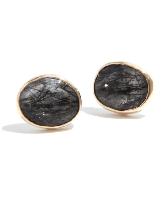 Melissa Joy Manning | Gray Tourmalated Quartz Stud Earrings | Lyst