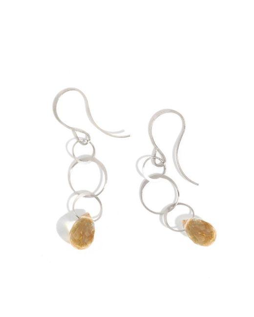 Melissa Joy Manning | Metallic Small Citrine Drop Earrings | Lyst