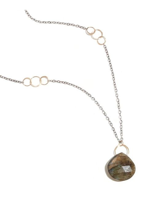 Melissa Joy Manning | Metallic Labradorite Gold And Oxidized Silver Necklace | Lyst