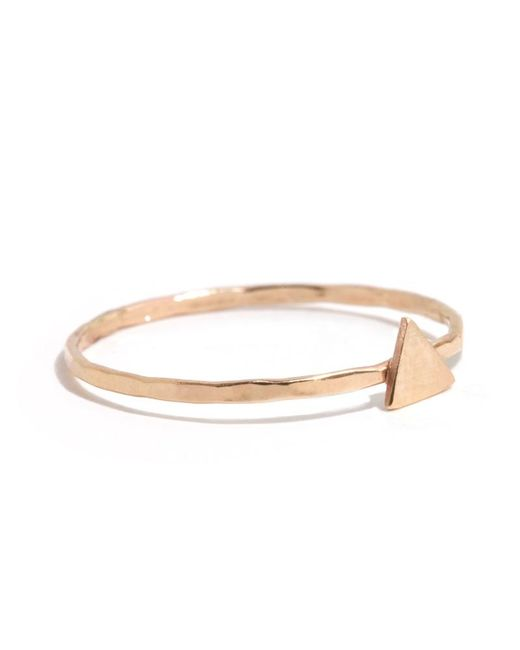 Melissa Joy Manning | Metallic Solid Triangle Ring | Lyst