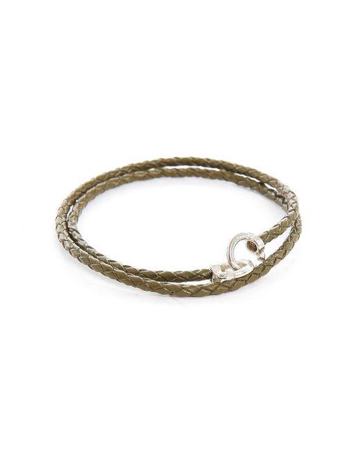 Gilbert Gilbert | Natural Jo12 Khaki Woven Leather Bracelet for Men | Lyst