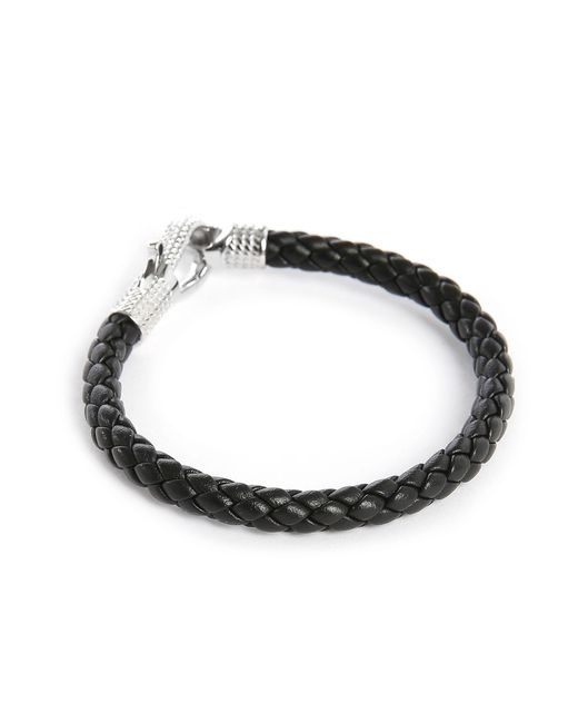 Tateossian | Black Braided Bracelet for Men | Lyst