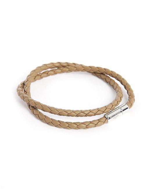 Tateossian | Brown Leather Pop Scoubidou Double 38 Cm Bracelet for Men | Lyst