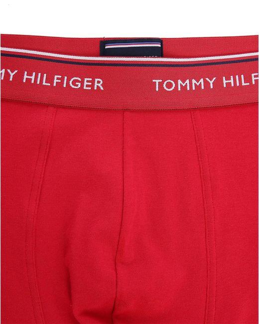 tommy hilfiger 3 pack red white blue boxer shorts in red for men. Black Bedroom Furniture Sets. Home Design Ideas