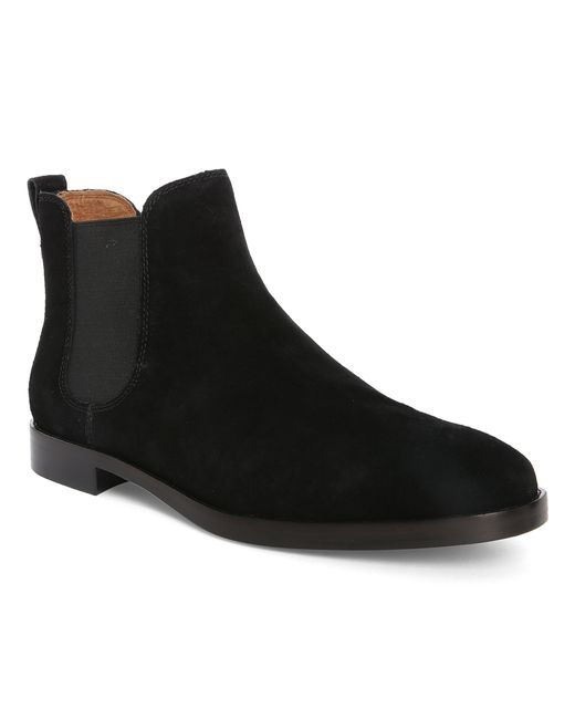 polo ralph black dillian suede chelsea boots in