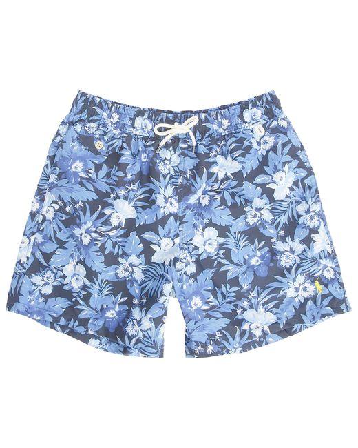 Polo Ralph Lauren | Blue Tropical Leaf Swim Shorts for Men | Lyst