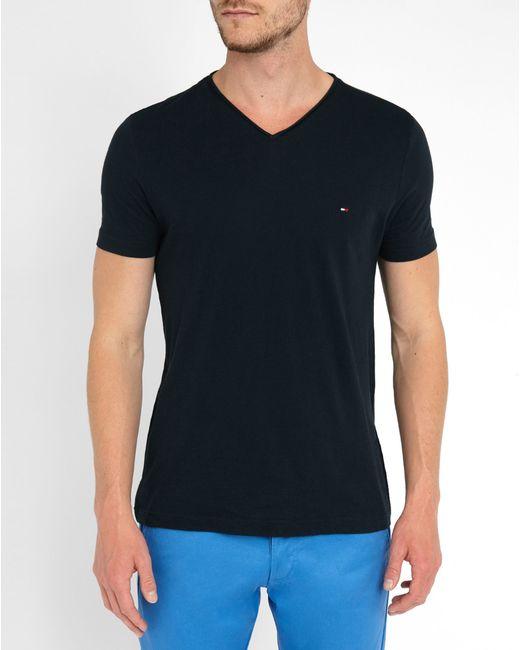 tommy hilfiger blue v neck t shirt in blue for men lyst. Black Bedroom Furniture Sets. Home Design Ideas