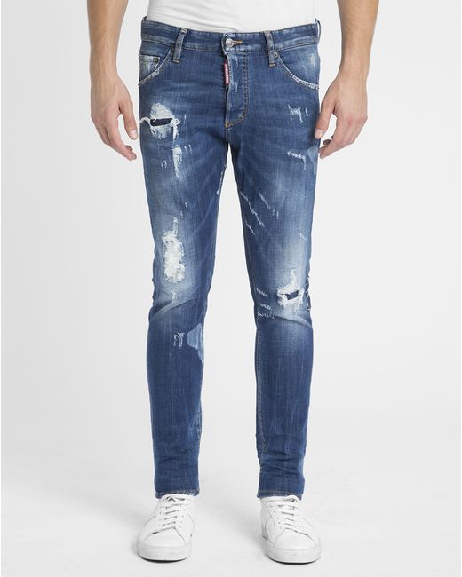 DSquared² | Blue Rookie Wash Slim Jeans for Men | Lyst