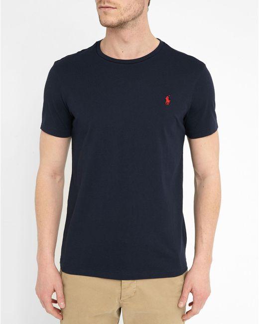Polo Ralph Lauren   Blue Cotton Jersey V-neck Tee for Men   Lyst
