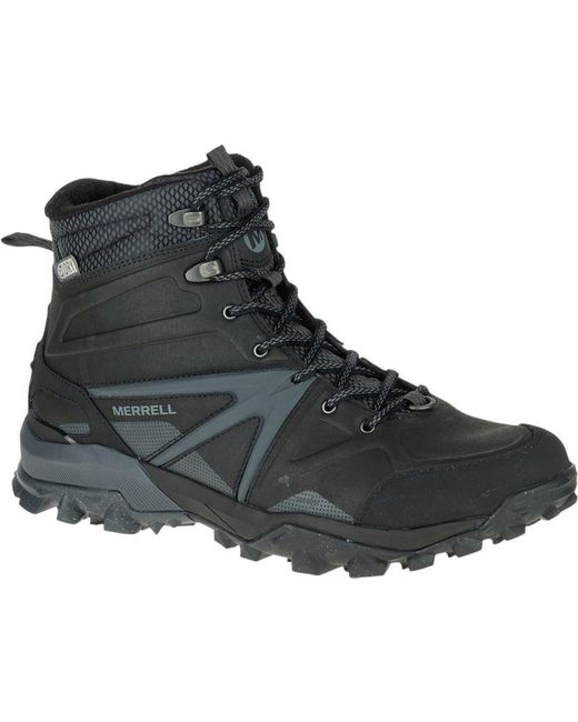 Merrell | Black Capra Glacial Ice+ Mid Waterproof Boot for Men | Lyst
