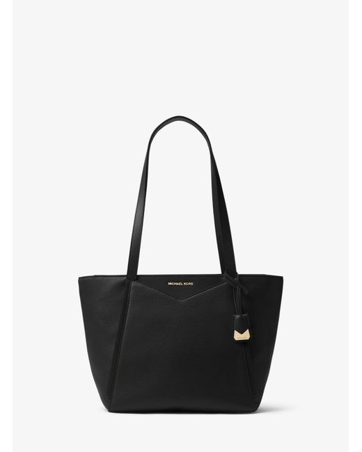 29dcd494c31c2 Michael Kors - Black Whitney Small Pebbled Leather Tote - Lyst ...