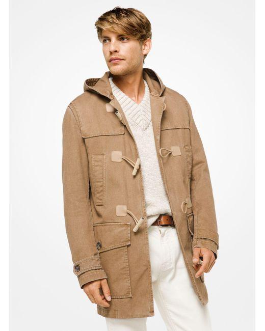 Michael Kors - Multicolor Cotton-twill Duffle Coat for Men - Lyst