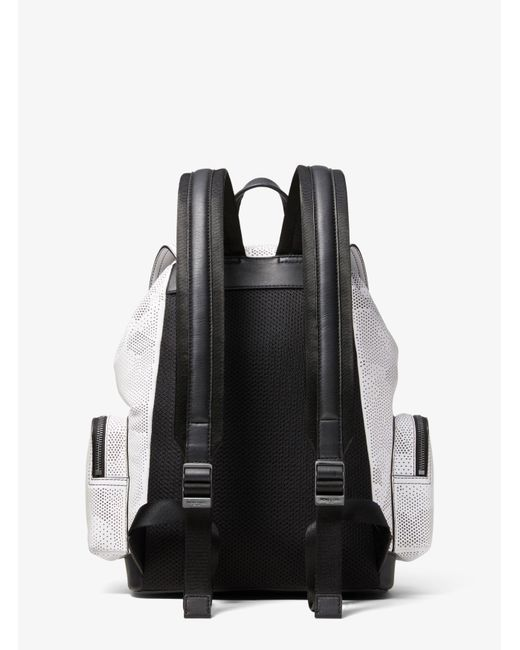 94c109091cc7d7 ... Michael Kors - White Henry Camo Perforated Leather Backpack for Men -  Lyst ...