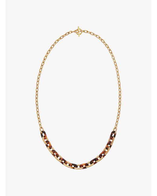 Michael Kors - Metallic Gold-tone Link Necklace - Lyst