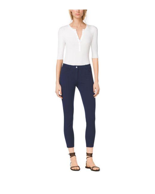 Michael Kors | Blue Stretch-twill Jeans | Lyst