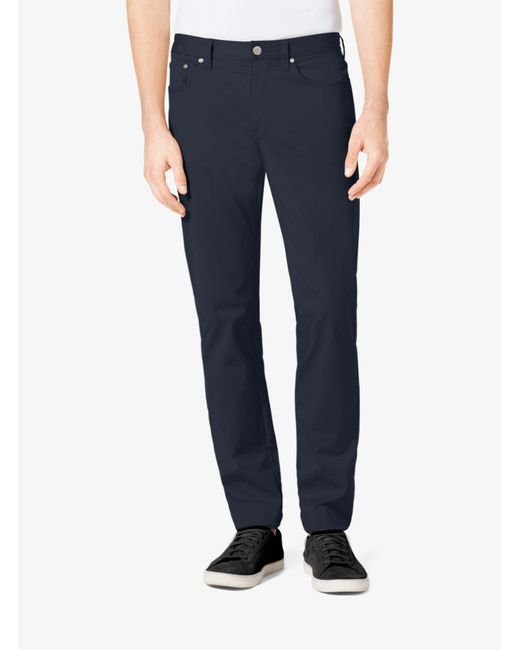 Michael Kors - Black Tailored/classic-fit Stretch-twill Five-pocket Pants for Men - Lyst
