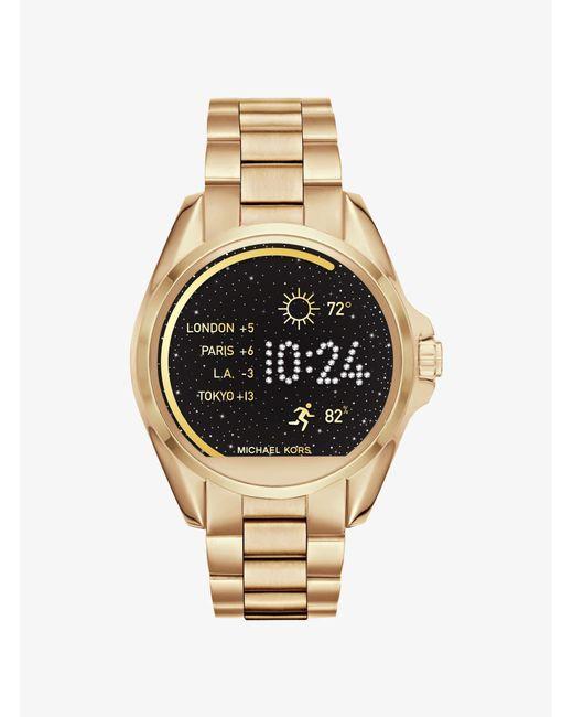 Michael Kors - Metallic Bradshaw Gold-tone Smartwatch - Lyst