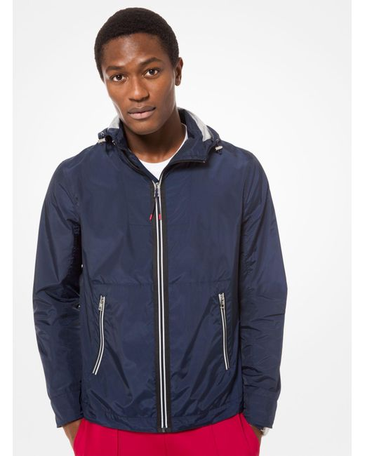 be95f6bafd46c Michael Kors - Blue Tech Hooded Jacket for Men - Lyst ...