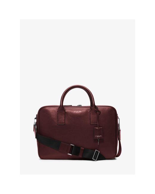 Michael Kors | Red Dylan Medium Leather Briefcase for Men | Lyst