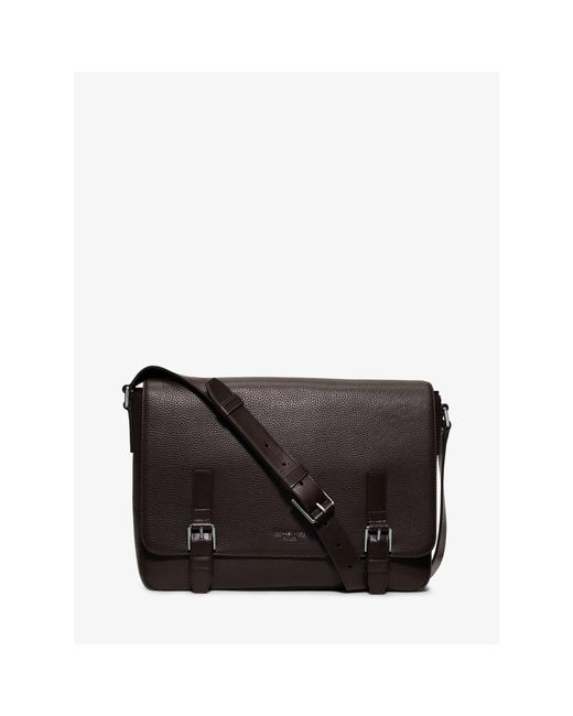 Michael Kors | Brown Bryant Large Leather Messenger for Men | Lyst