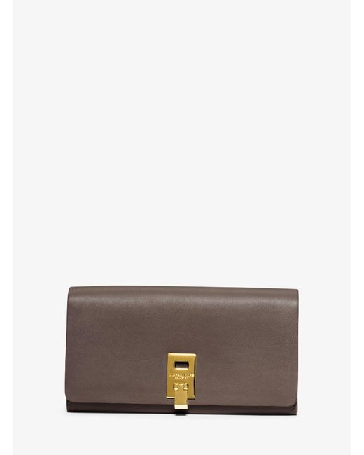 Michael Kors | Gray Miranda Continental Leather Wallet | Lyst
