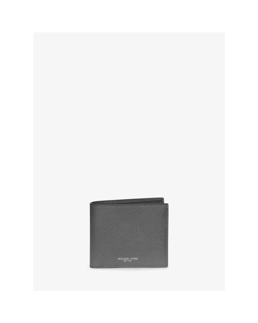 Michael Kors | Gray Harrison Leather Billfold Wallet for Men | Lyst