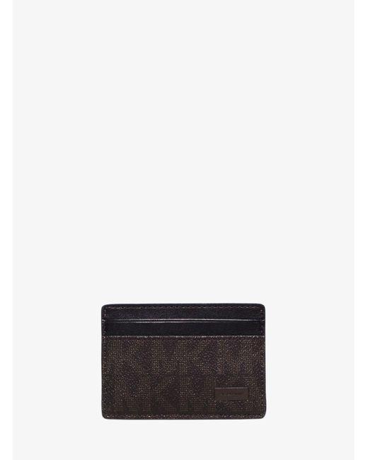 Michael Kors | Brown Jet Set Logo Money-clip Card Case for Men | Lyst