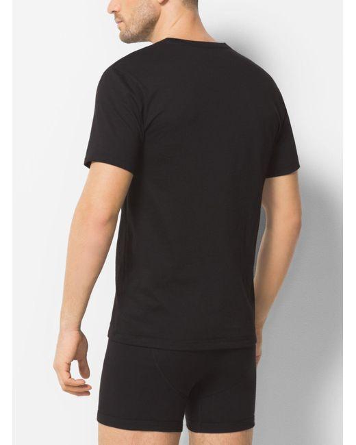 Michael Kors   Black 3-pack Crewneck Cotton T-shirt for Men   Lyst