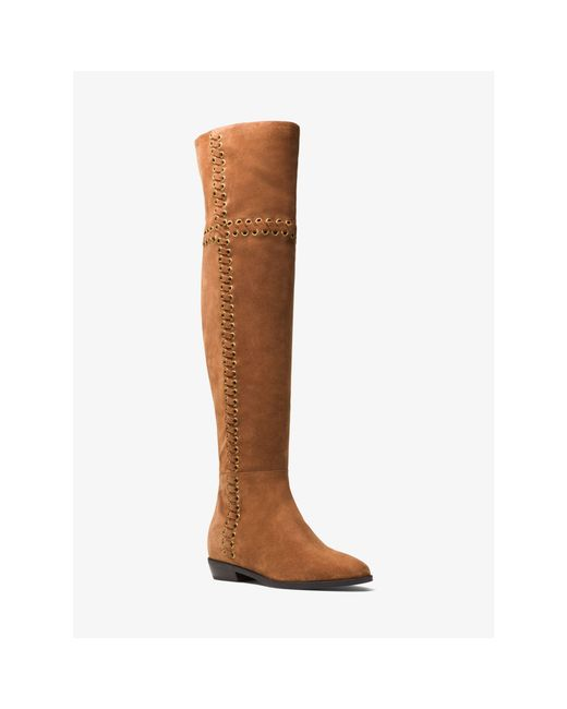 MICHAEL Michael Kors | Brown Malin Eyelet Laced Boot | Lyst