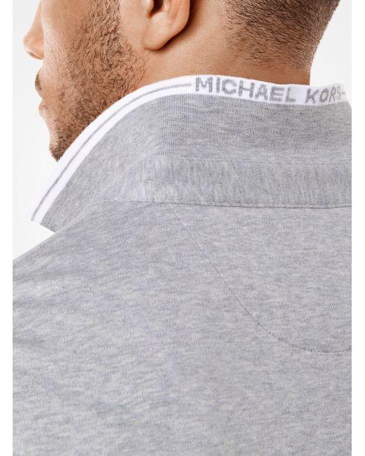 Michael Kors | Gray Greenwich Cotton Polo Shirt for Men | Lyst