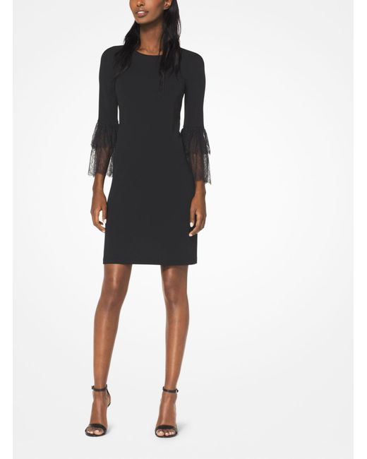 Michael Kors - Black Stretch Matte-jersey Dress - Lyst