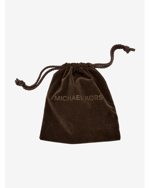 Michael Kors | Pink Logo Rose Gold-tone Stud Earrings | Lyst