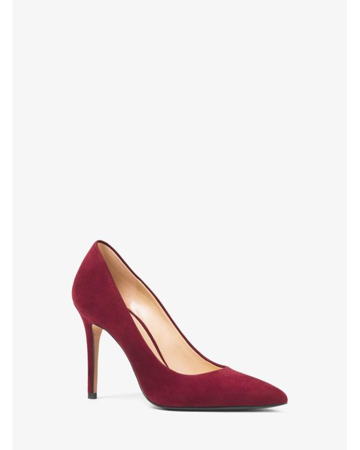 Michael Kors - Red Claire Suede Pump - Lyst