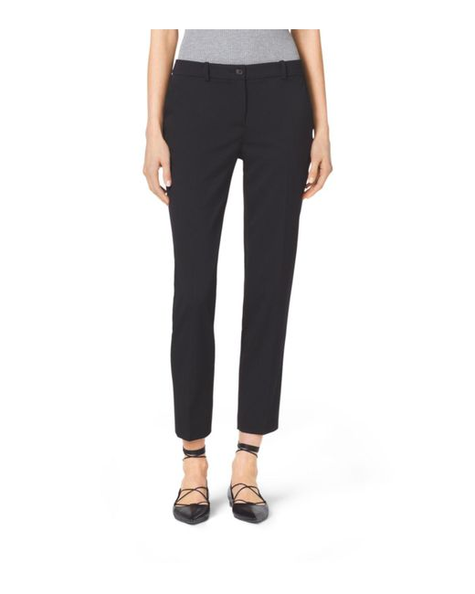 Michael Kors | Black Samantha Stretch Wool Gabardine Pants | Lyst