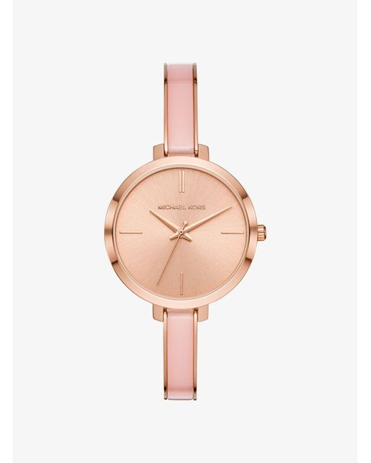 Michael Kors - Metallic Jaryn Rose Gold-tone And Acetate Watch - Lyst