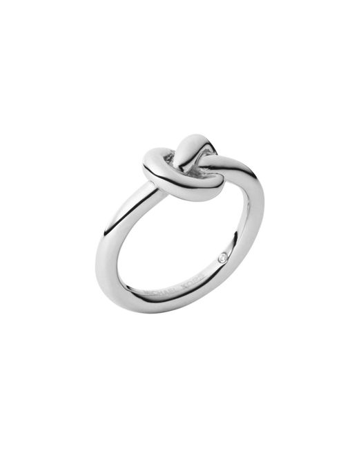 Michael Kors | Metallic Silver-tone Knot Ring | Lyst