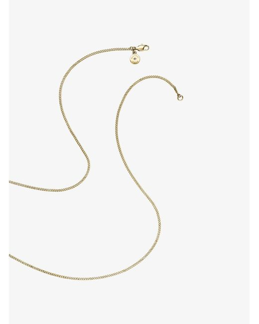 Michael Kors | Metallic Leather And Gold-tone Padlock Necklace | Lyst