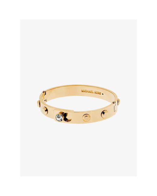 Michael Kors | Metallic Astor Gold-tone Bangle | Lyst