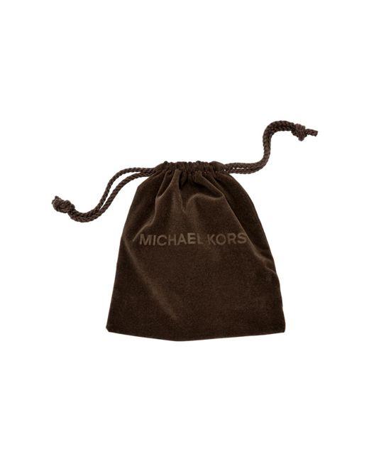 Michael Kors   Metallic Crystal Silver-tone Drop Earrings   Lyst