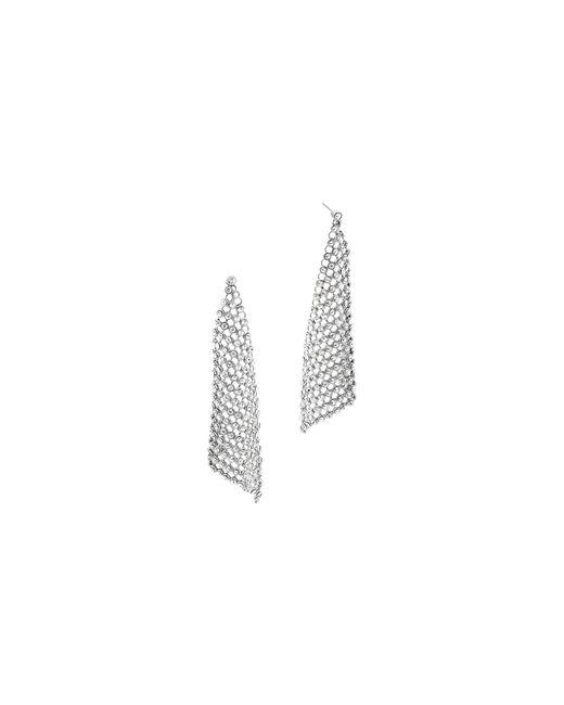 Michael Kors | Metallic Crystal Silver-tone Chain-mesh Earrings | Lyst