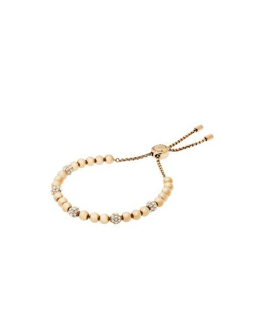 Michael Kors | Metallic Gold-tone Slider Bracelet | Lyst