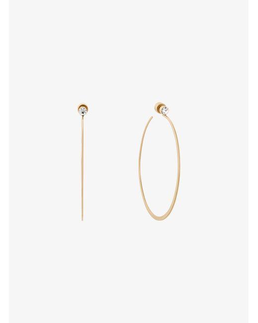 Michael Kors | Metallic Gold-tone Hoop Earrings | Lyst