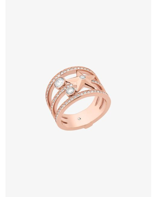 Michael Kors   Pink Rose Gold-tone Celestial Ring   Lyst