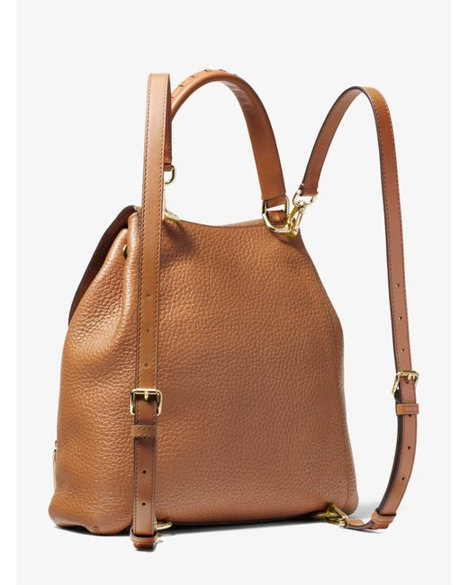 05328892045f ... where can i buy michael kors brown viv large leather backpack lyst  1cf1a 92704