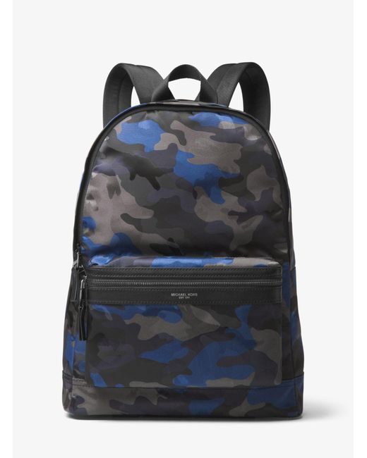 Michael Kors - Blue Kent Camouflage Backpack for Men - Lyst