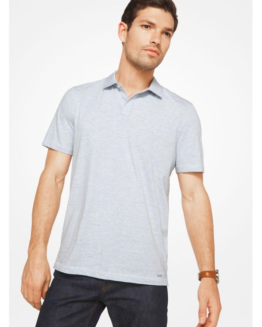 Michael Kors | White Space-dyed Cotton Polo Shirt for Men | Lyst