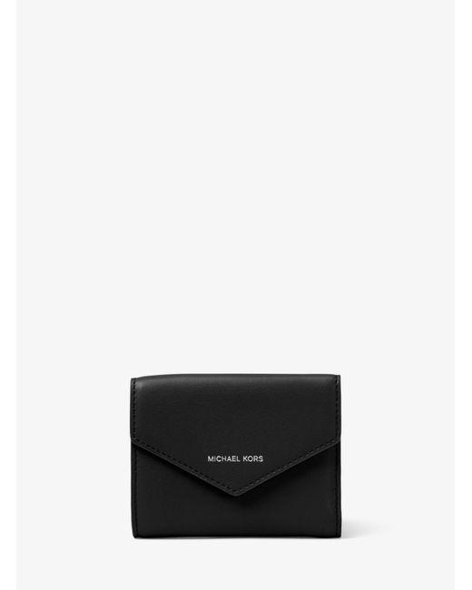 Michael Kors - Black Small Leather Envelope Wallet - Lyst