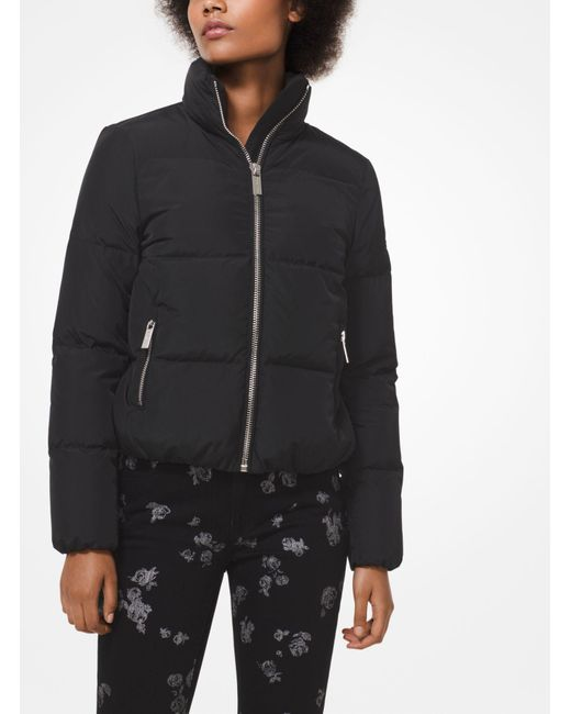 Michael Kors - Black Puffer Jacket - Lyst