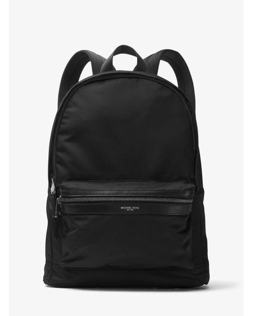 Michael Kors - Black Kent Nylon Backpack for Men - Lyst